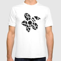 Mosaic Flower Mens Fitted Tee White MEDIUM