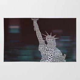 Typographic Statue of Liberty Rug