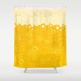Beer Bubbles Shower Curtain