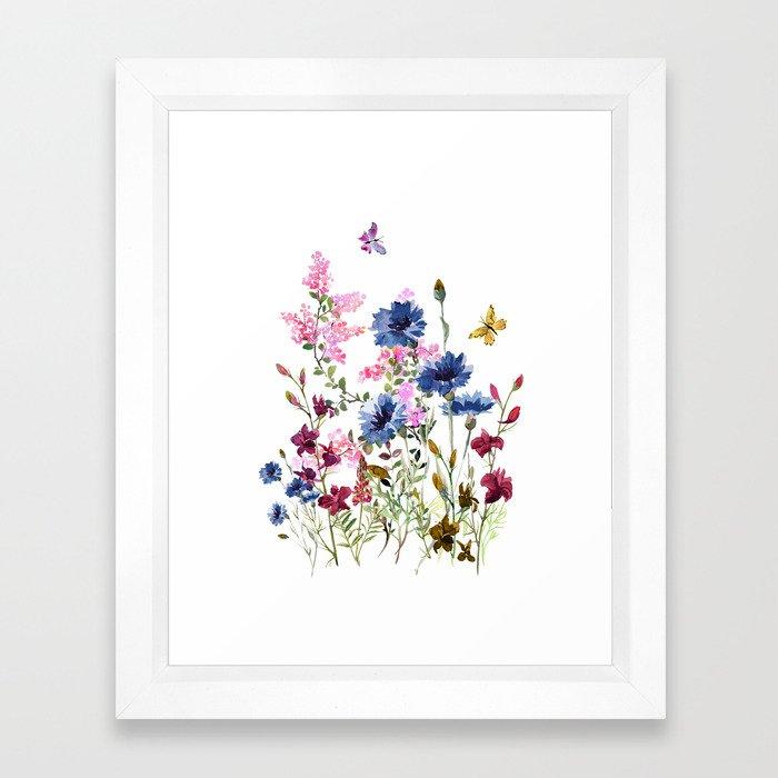 Wildflowers IV Framed Art Print