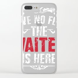 Waiter Clear iPhone Case