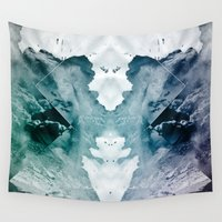 rorschach Wall Tapestries featuring Test de Rorschach II by acefecoo