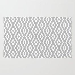 Grey & White Pattern Rug