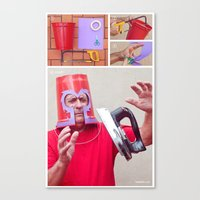 magneto Canvas Prints featuring Magneto by Vó Maria