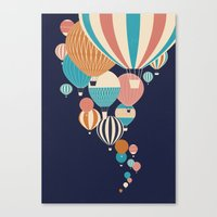 balloons Canvas Prints featuring Balloons by Jay Fleck