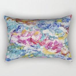 Abstract floral painting Rectangular Pillow