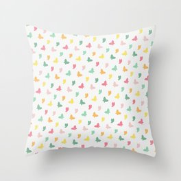 Cute and Colorful Whimsical Butterflies Pattern Throw Pillow