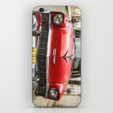 Vintage Red American Car on the Streets of Havana. iPhone & iPod Skin