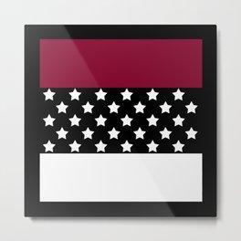 .Red black patchwork Metal Print