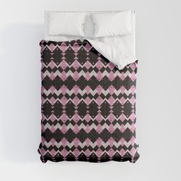 Pink Flamingos Art Deco Pattern Comforters