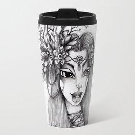 JennyMannoArt Graphite Illustration/Giselle the woodland fairy Travel Mug