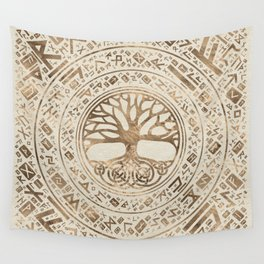 Tree of life -Yggdrasil Runic Pattern Wall Tapestry