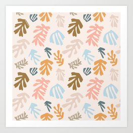 Seaweeds and sand Art Print