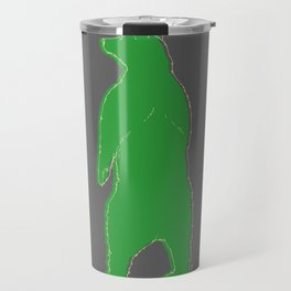 Papa bear in the dark - green Travel Mug