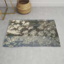 Sparkling Snow Crystals - Delicate Beauty Rug