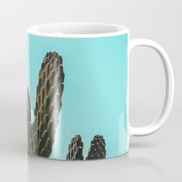Cactus Photography Print {1 of 3} | Teal Succulent Plant Nature Western Desert Plants  Design Decor Coffee Mug