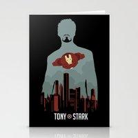 tony stark Stationery Cards featuring Tony Stark by offbeatzombie