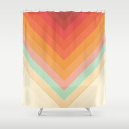 Rainbow Chevrons Shower Curtain