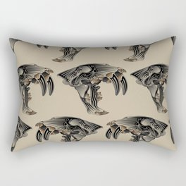 Ancient Warrior (Sabertooth Skull) Rectangular Pillow