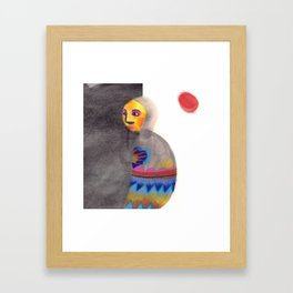 Red Moon in a Wrap Framed Art Print