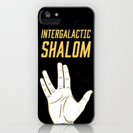 Intergalactic Shalom iPhone Case