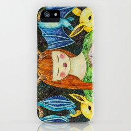 Gril with the Magic Stone iPhone Case