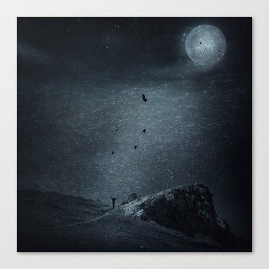 edge of always - dark blue Canvas Print