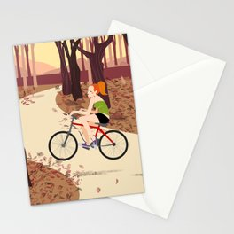 Bike Girl Stationery Cards
