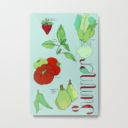 Fresh from the Farmers Market: Summer Metal Print