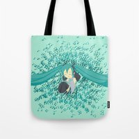 vocaloid Tote Bags featuring MikuMiku by gohe1090