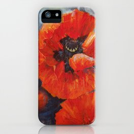 Poppies for K iPhone Case