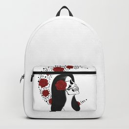 Skull girl rose Backpack