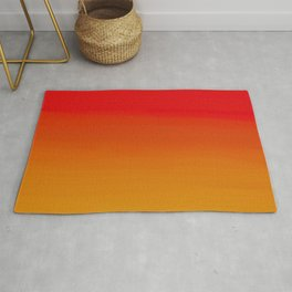 Red Apple and Golden Honey Ombre Sunset Rug