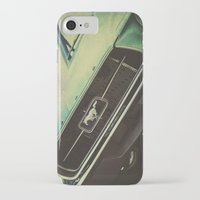 mustang iPhone & iPod Cases featuring Galaxy Mustang by Honey Malek