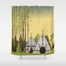 Tipis Shower Curtain