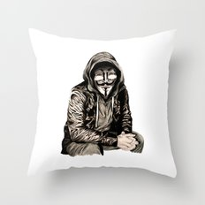 Anonymous Gangster Throw Pillow
