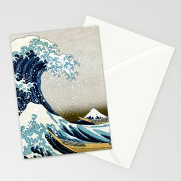 The great wave, famous Japanese artwork Stationery Cards