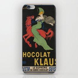 Vintage poster - Chocolat Klaus iPhone Skin