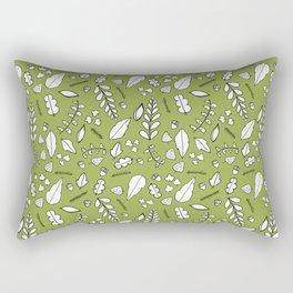 Scandi Leaves Rectangular Pillow