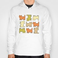 cartoon Hoodies featuring Cartoon Kitties by Irina  Romanovsky