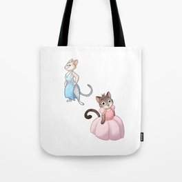 Cats in Dresses Tote Bag