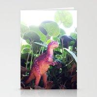 dinosaur Stationery Cards featuring Dinosaur by cafelab