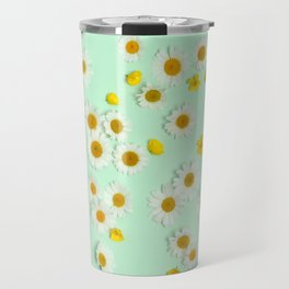 Composition of daisies and buttercups Travel Mug