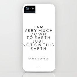 Fashion Wall Art Fashion Decor Karl Lagerfeld Quotes Karl Lagerfeld Print Printable Quotes Fashion iPhone Case