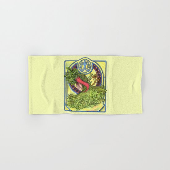Art nouveau. Spices and vegetables Hand & Bath Towel