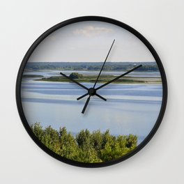 Landscape on the river # 3 Wall Clock