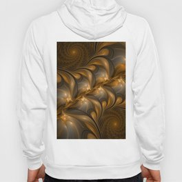Warming, Luminous Abstract Fractal Art Hoody