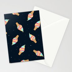 Soft Serve in Space Stationery Cards