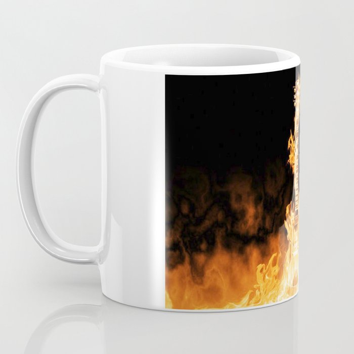 Flaming Guitar Coffee Mug