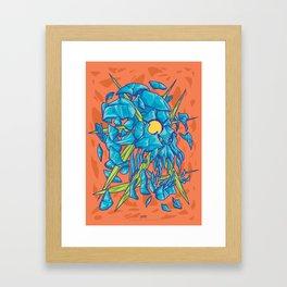(Des)Integration Series - Blueskull Framed Art Print
